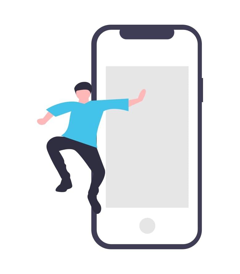 spring-uit-de-telefoon-illustratie
